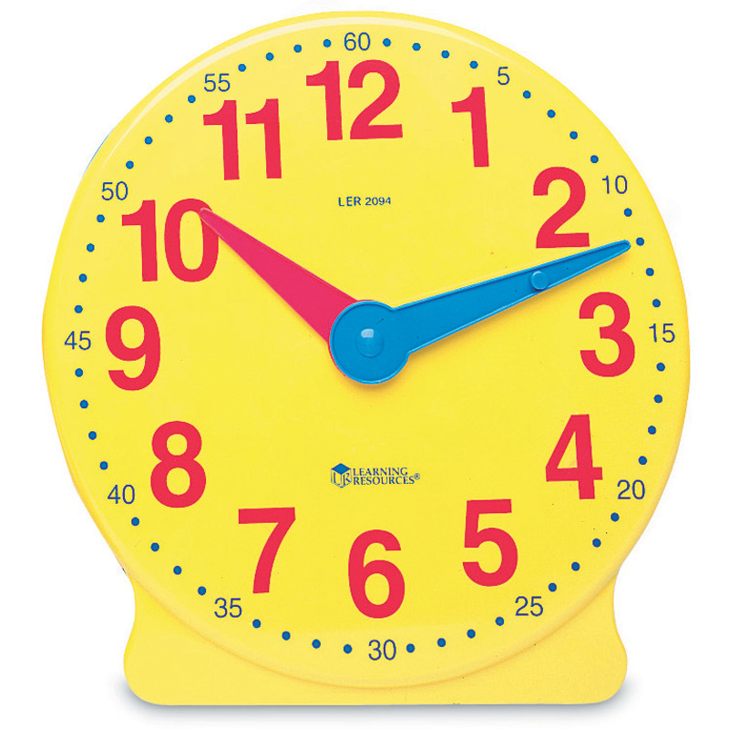 Big Time Learning Clock 12-Hour Demonstration Clock from Learning ...