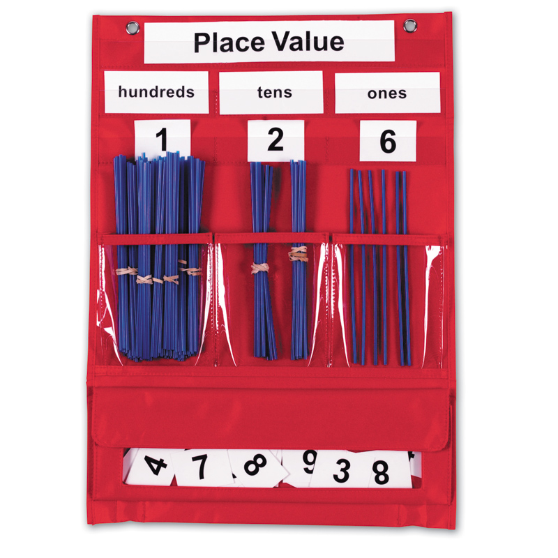 Counting Place Value Pocket Chart on Mall Math Worksheets