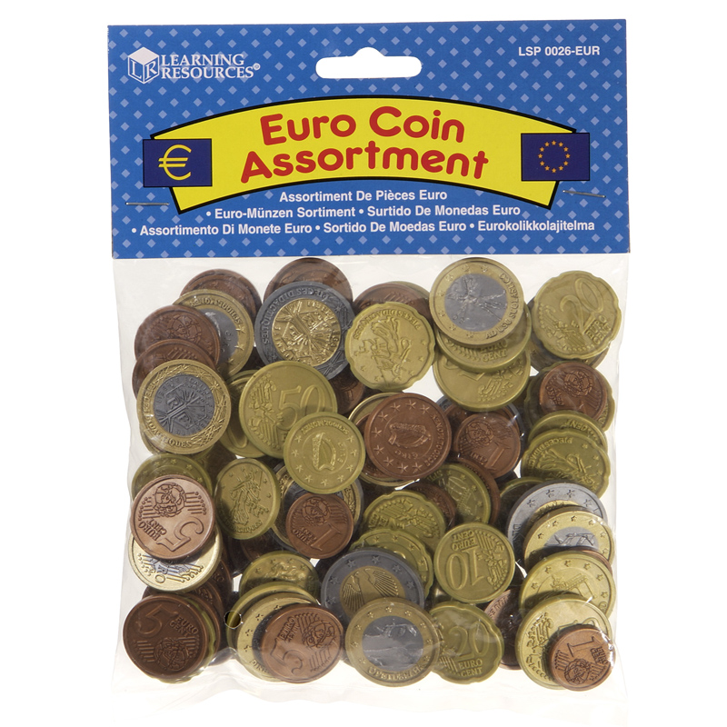 Toy Money 100 : Learning resources toy euro coin assortment pack ebay