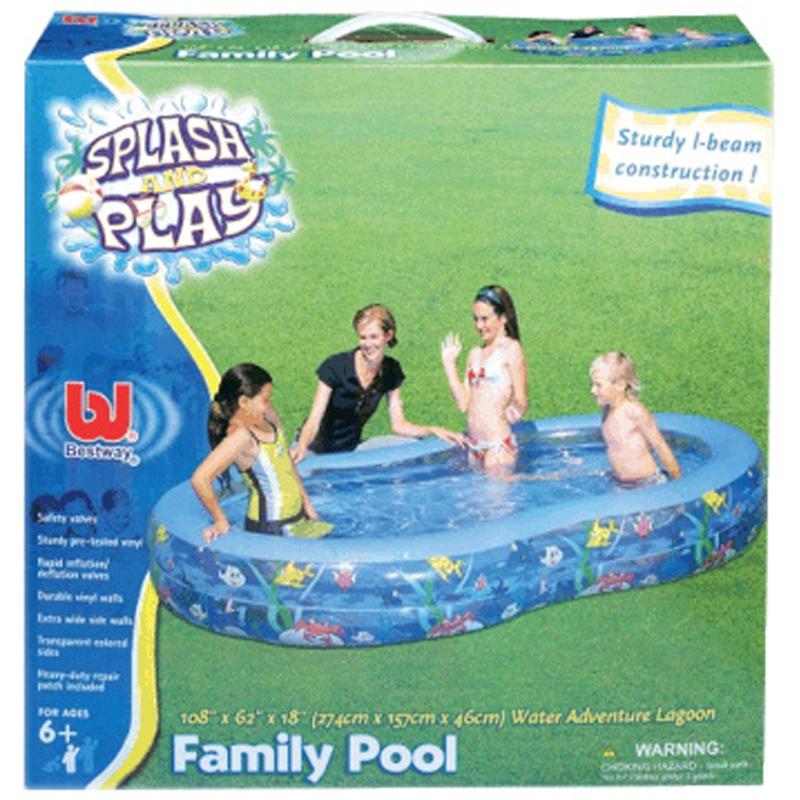 Lagoon family paddling pool from bestway wwsm for Family paddling pool