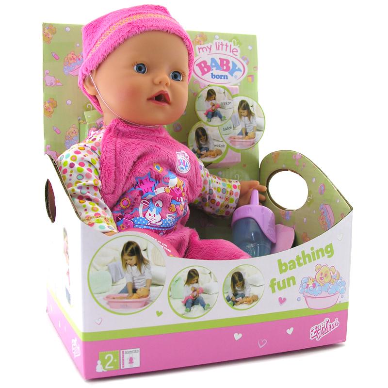 my little baby born bathing fun pink doll new ebay. Black Bedroom Furniture Sets. Home Design Ideas