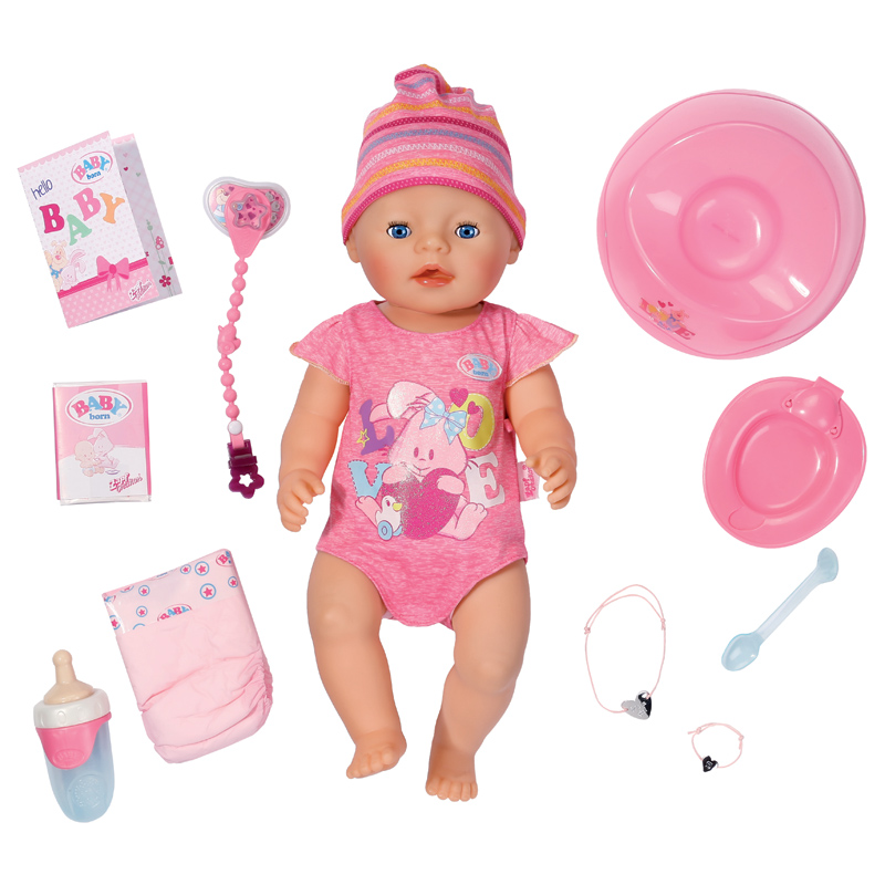 baby born interactive doll includes 10 accessories new. Black Bedroom Furniture Sets. Home Design Ideas