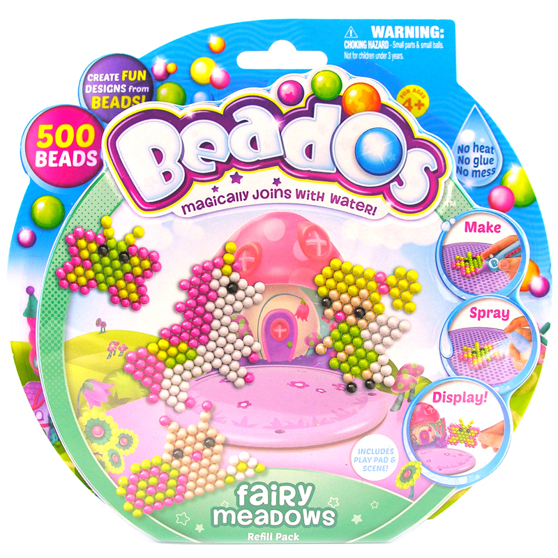Beados Themed Refill Pack 500 Piece Choice Of Themes One