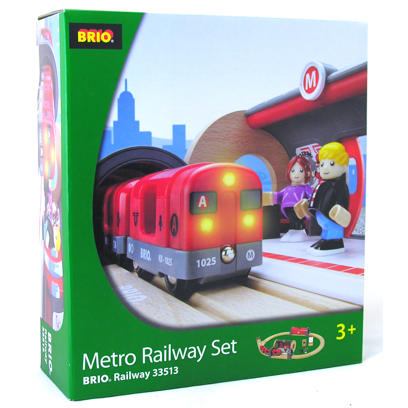 metro railway set from brio wwsm. Black Bedroom Furniture Sets. Home Design Ideas