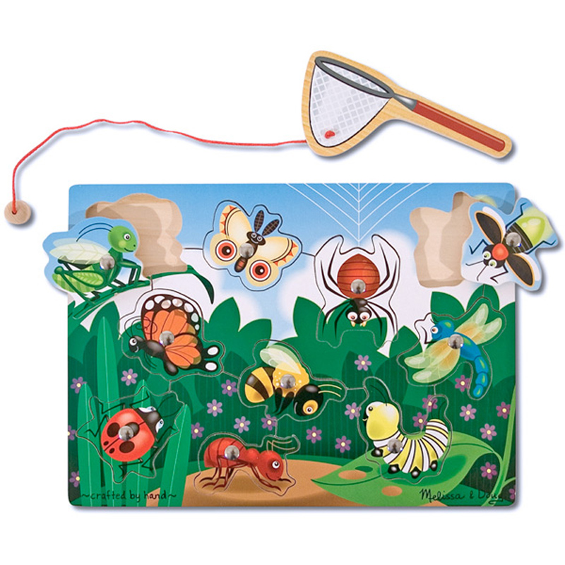 Bug catching magnetic game from melissa and doug wwsm for Fishing net crossword clue