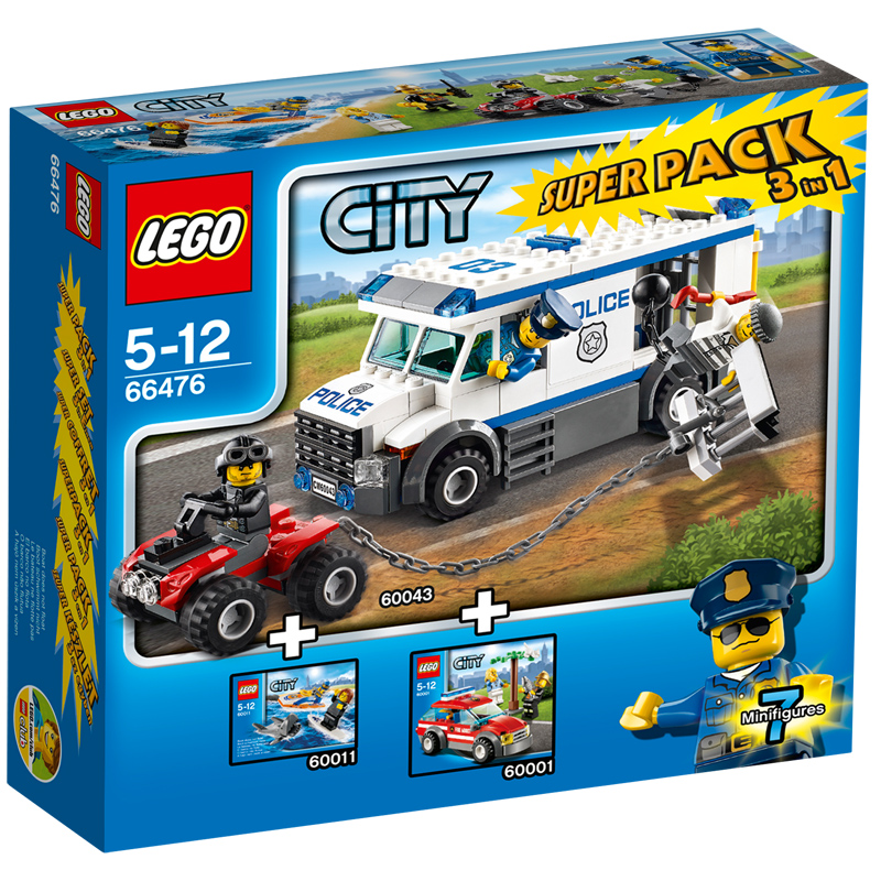 lego 66476 city sauvetage 1 en 3 superpack neuf ebay. Black Bedroom Furniture Sets. Home Design Ideas