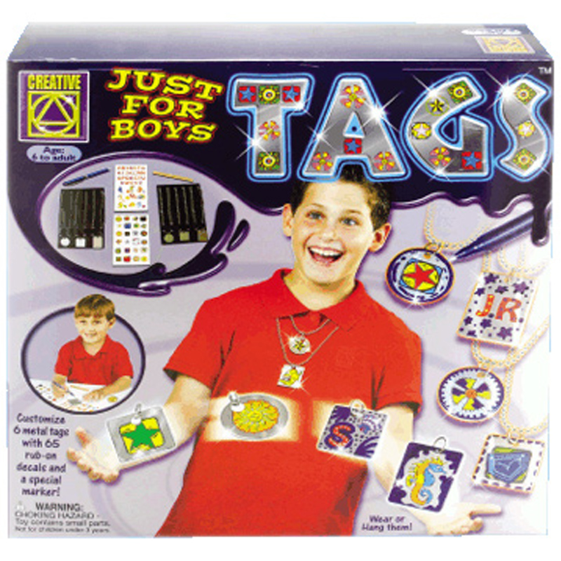 Creativity Toys For Boys : Just for boys tags from creative wwsm