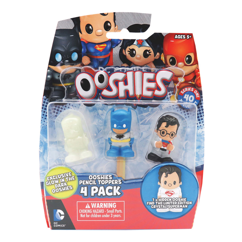 Ooshies 4 pack series 1 from dc comics wwsm