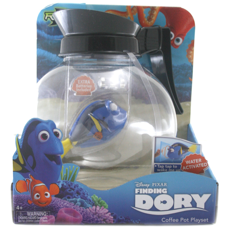 Robo fish coffee pot playset from disney wwsm for Robo fish toy