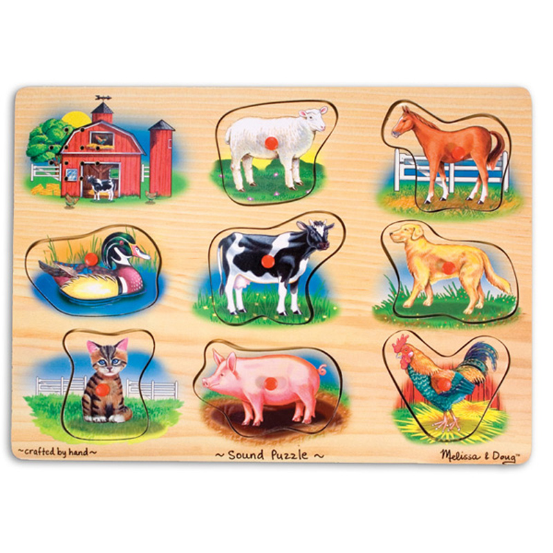 Farm Sound Puzzle from Melissa And Doug | WWSM Wooden Toddler Puzzle