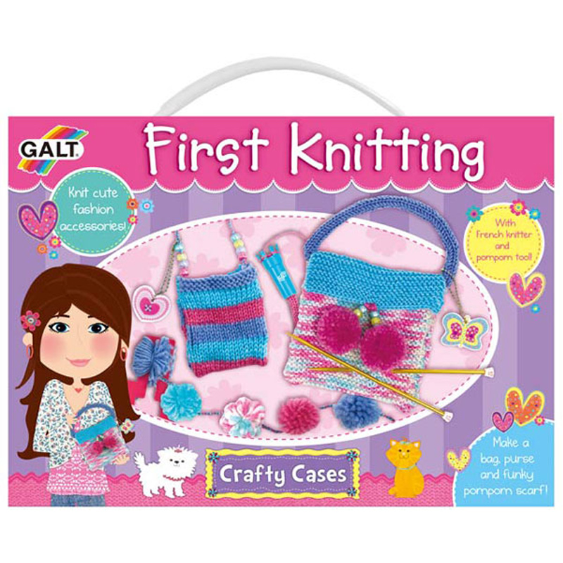 Knitting Set : Crafty cases first knitting set from galt wwsm