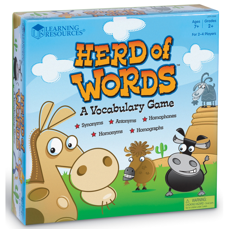 Toy Vocabulary Game : Herd of words vocabulary game from learning resources wwsm