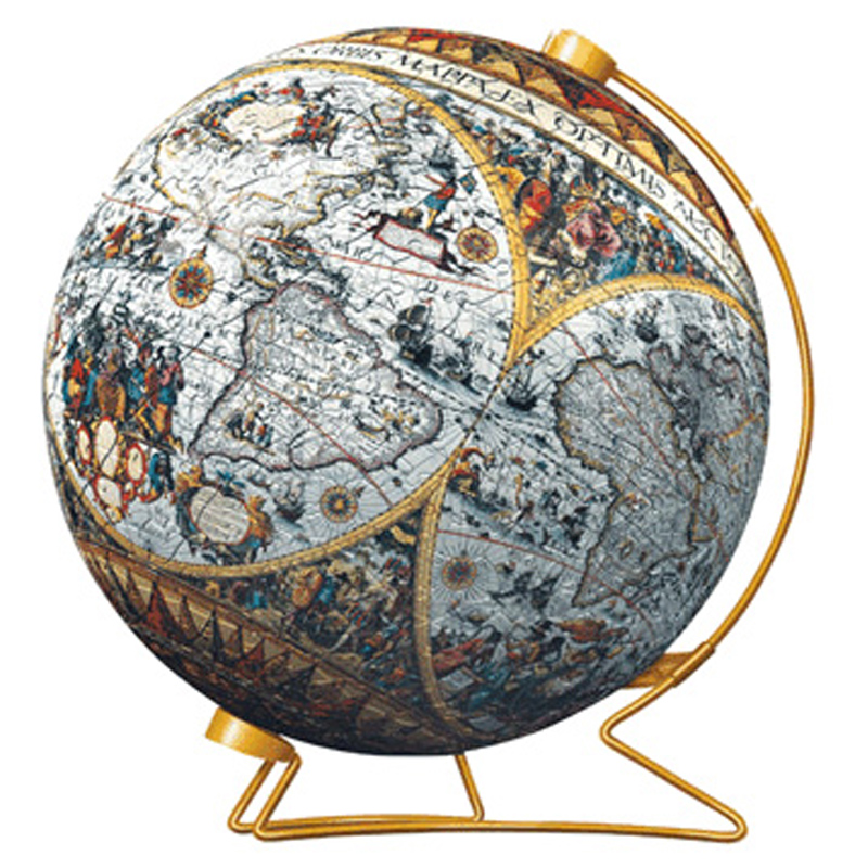 historical map puzzleball from ravensburger wwsm. Black Bedroom Furniture Sets. Home Design Ideas