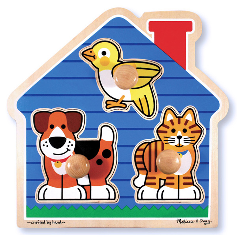 House Pets Large Peg Puzzle from Melissa And Doug | WWSM
