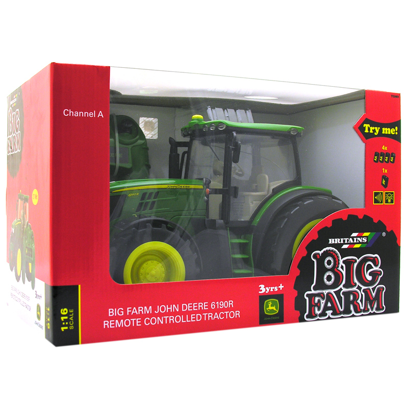 John Deere 6190r Big Farm Radio Control Tractor on john deere toy farm tractors