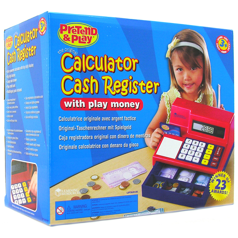 Pretend Toy Money : Pretend play calculator cash register from learning