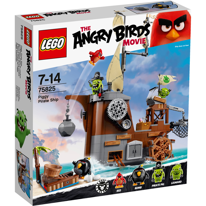 Toy Pirate Lego : Angry birds movie piggy pirate ship from lego wwsm
