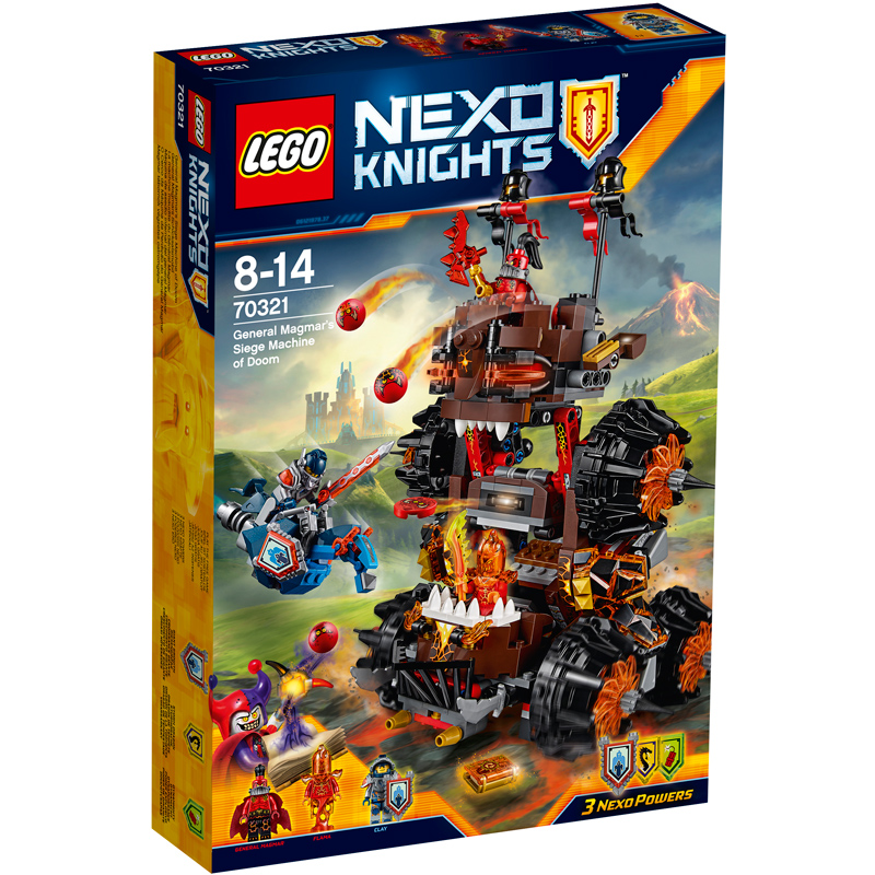 lego nexo knights general magmar s siege machine of doom