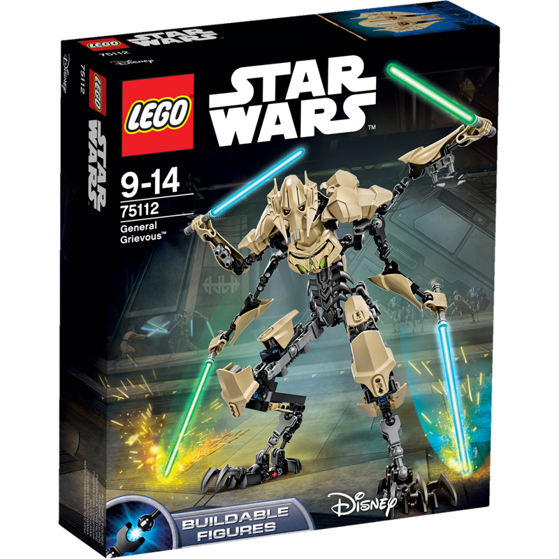 Star Wars General Grievous Toys : Lego star wars buildable figures general grievous
