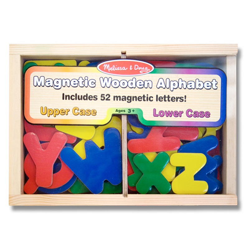 melissa doug magnetic wooden alphabet ebay With melissa and doug magnetic alphabet letters