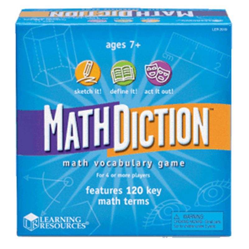 Toy Vocabulary Game : Mathdiction maths vocabulary game from learning resources