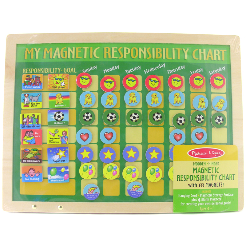 Magnetic responsibility chart from melissa and doug wwsm