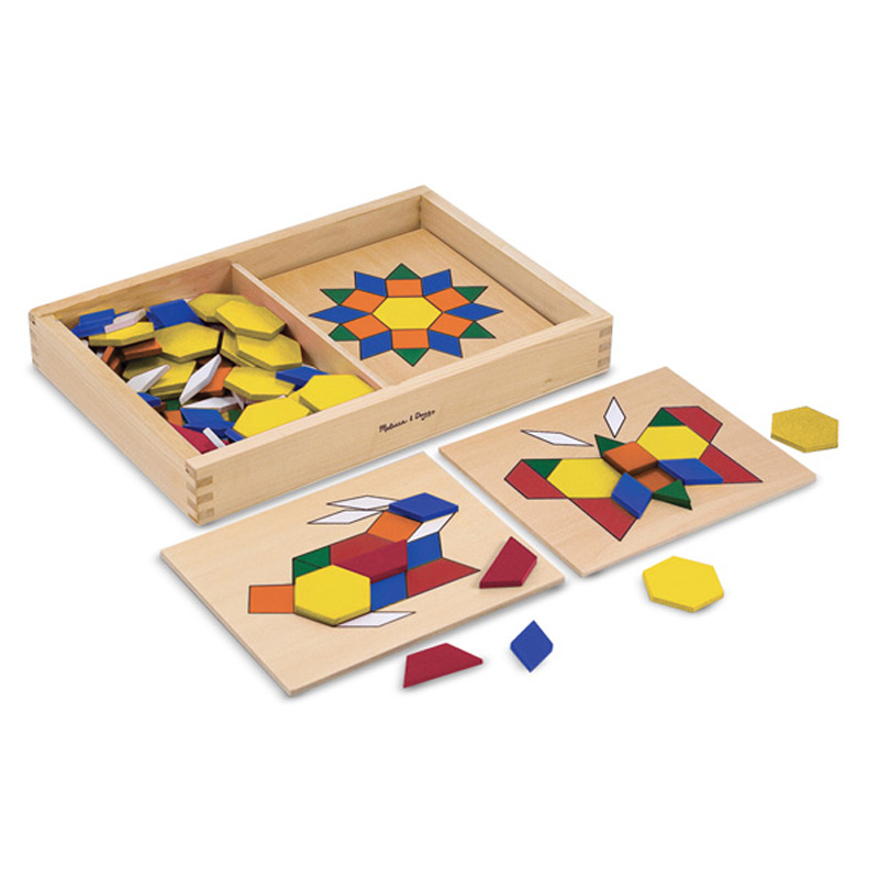 Melissa And Doug Toys : Pattern blocks boards from melissa and doug wwsm