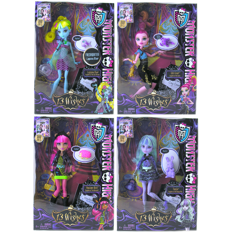 Monster high 13 wishes dolls will