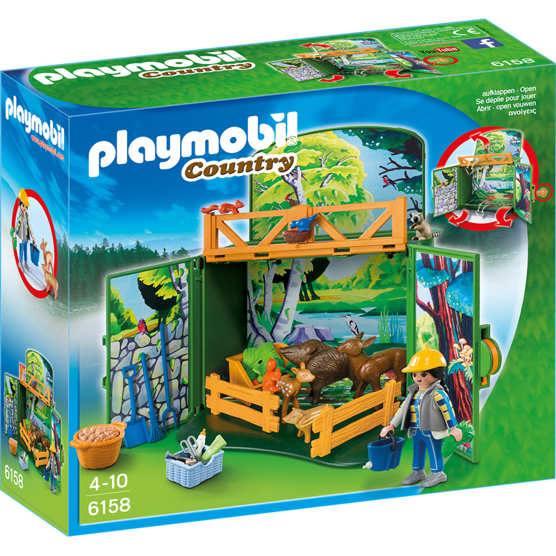 playmobil country my secret forest animals play box from