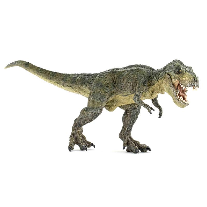 T Rex Dinosaur Toy : Papo dinosaurs t rex green running figure new ebay