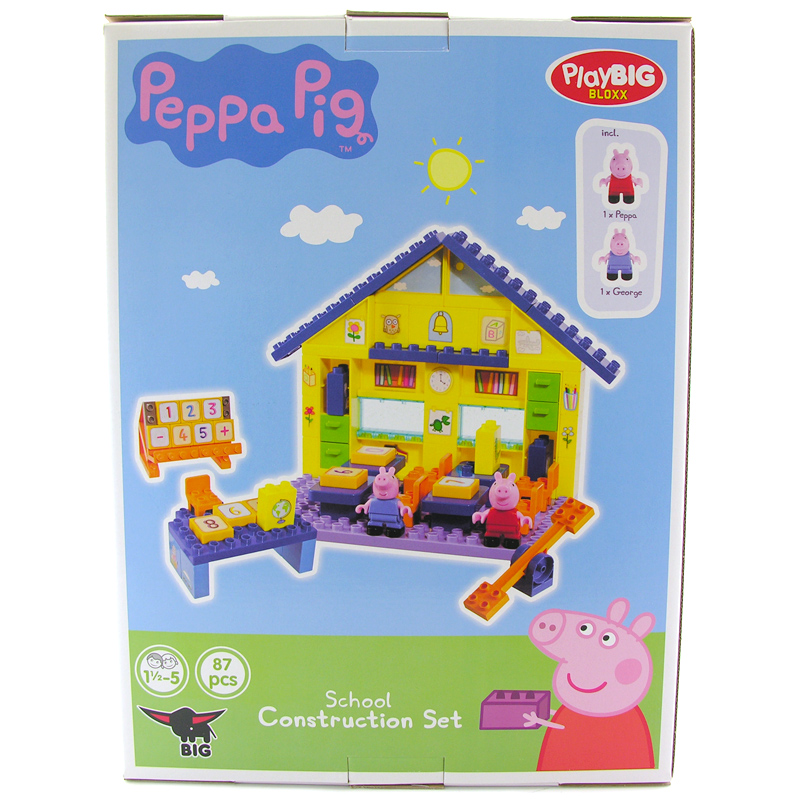 peppa pig school construction set instructions