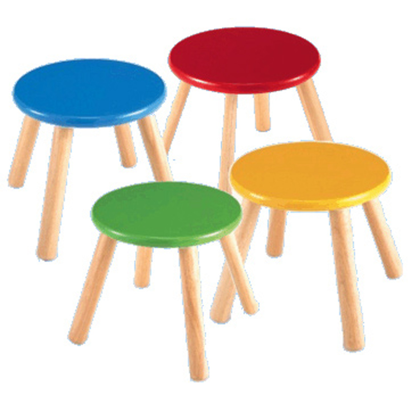 Coloured Wooden Stools From Pintoy Wwsm