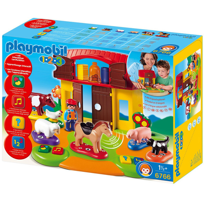 123 interactive farm 6766 from playmobil wwsm. Black Bedroom Furniture Sets. Home Design Ideas