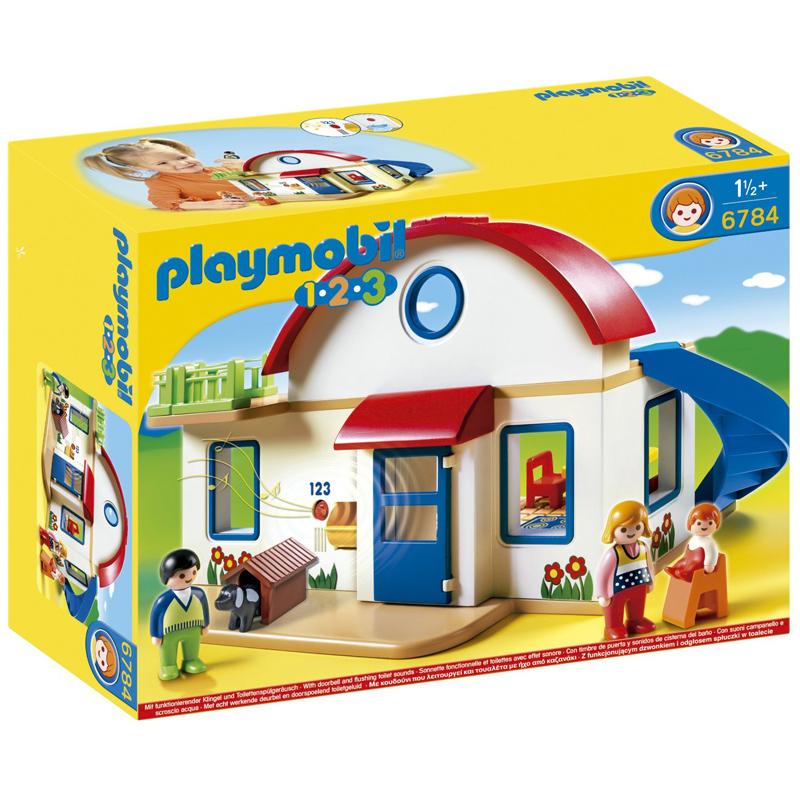 playmobil 123 suburban house 6784 new ebay. Black Bedroom Furniture Sets. Home Design Ideas