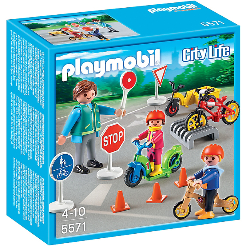 children with crossing guard from playmobil wwsm. Black Bedroom Furniture Sets. Home Design Ideas