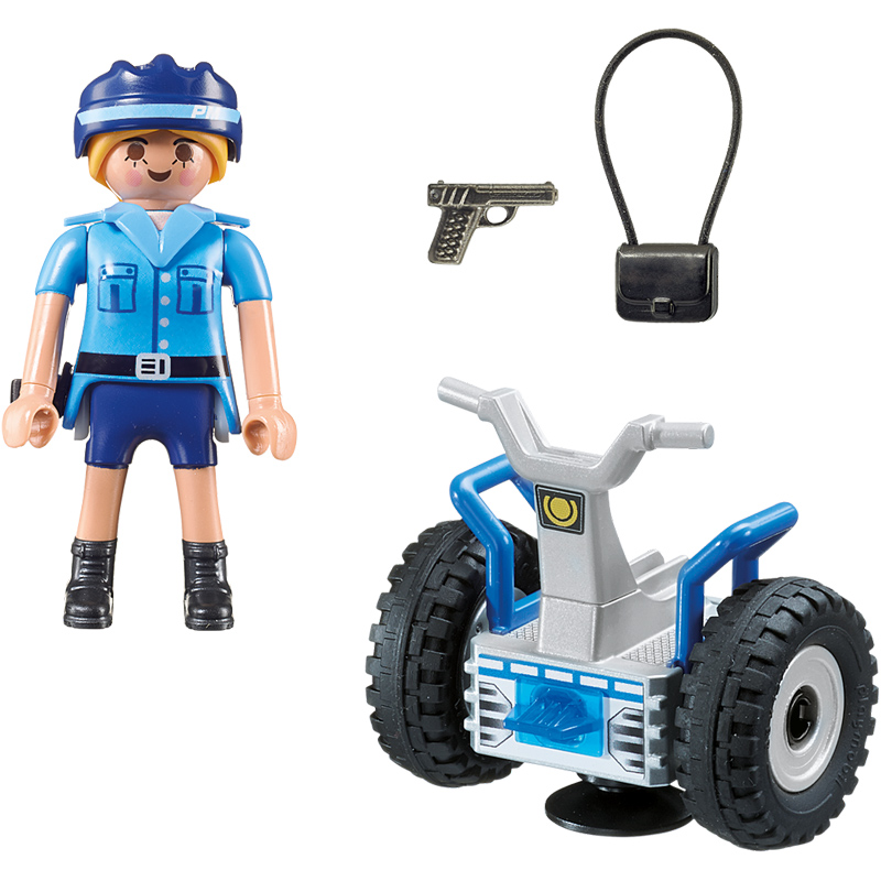 city action policewoman with balance rider from playmobil. Black Bedroom Furniture Sets. Home Design Ideas