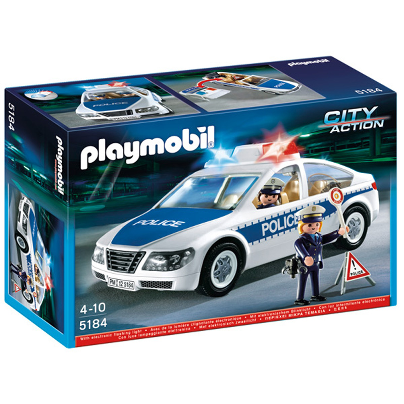 Police Car Toys For Boys : Police car with flashing light from playmobil wwsm