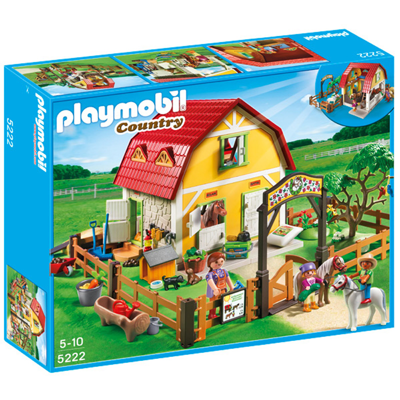 childrens pony farm from playmobil wwsm. Black Bedroom Furniture Sets. Home Design Ideas