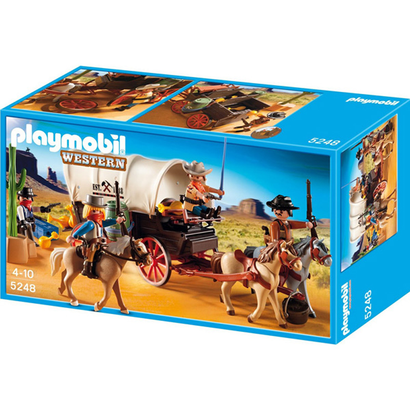Covered wagon with raiders from playmobil wwsm - Playmobil kutsche ...