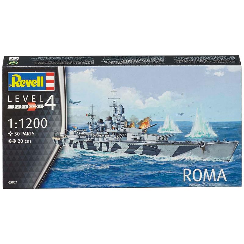 Revell Italian Warship Roma (Level 4) (Scale 1:1200) Model ...