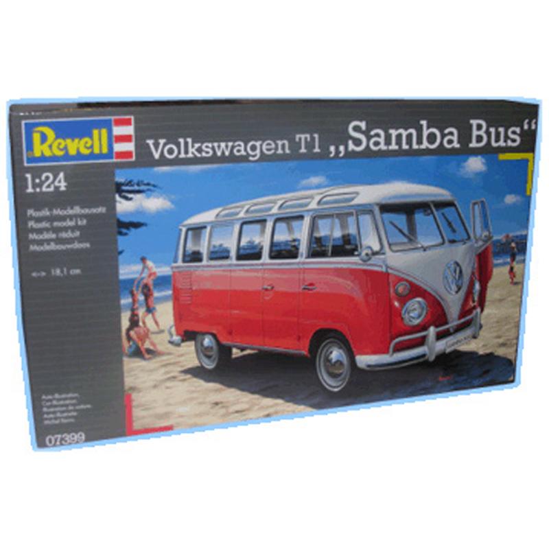 revell volkswagen t1 samba bus scale 1 24 ebay. Black Bedroom Furniture Sets. Home Design Ideas
