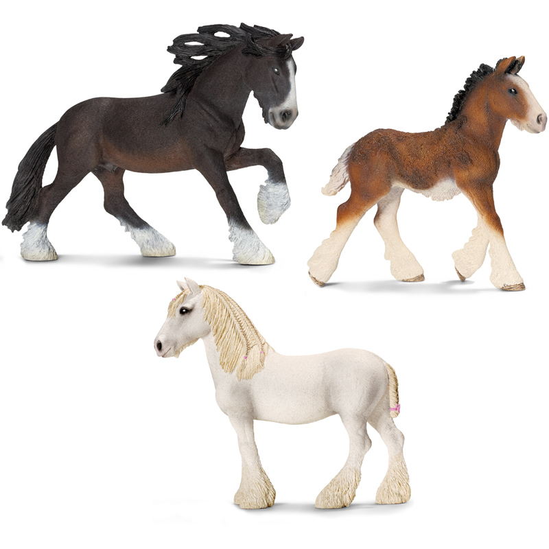 Shire Horse Family from Schleich