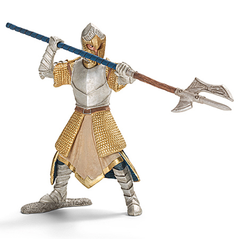 Amazon.com: Schleich Lion Coat of Arms Knight with sword on horse ...