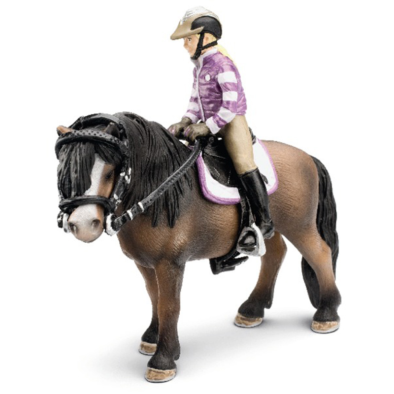 pony riding set from schleich wwsm. Black Bedroom Furniture Sets. Home Design Ideas
