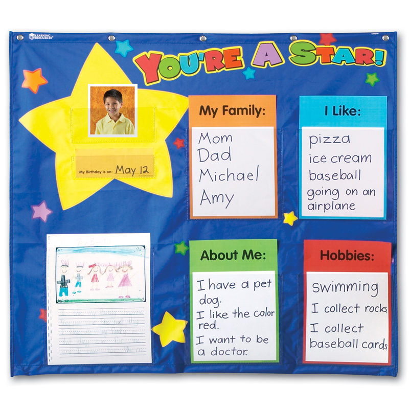 Bags for nursery school - Star Student Pocket Chart From Learning Resources Wwsm