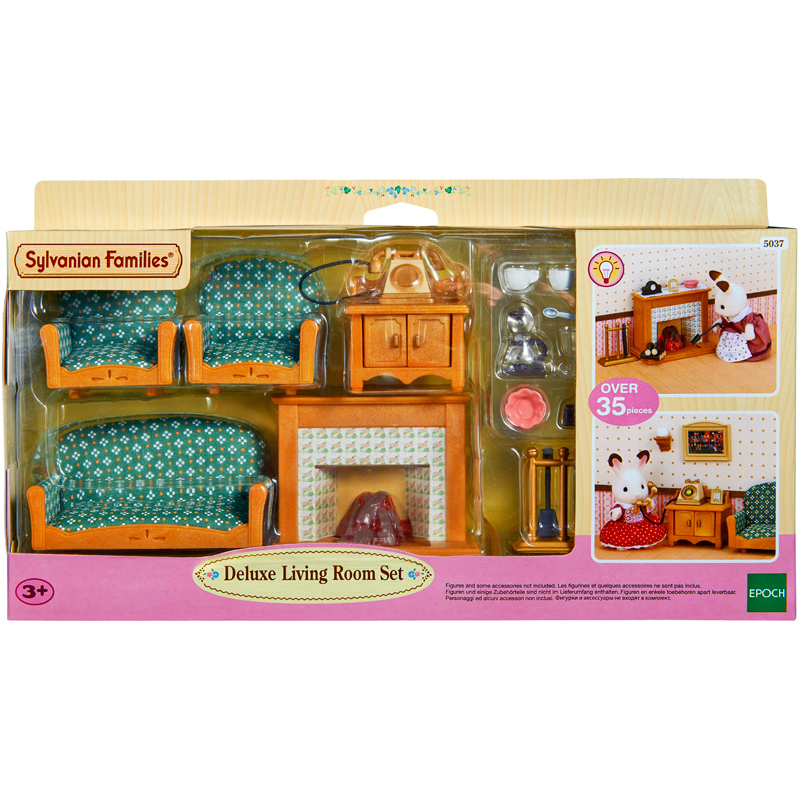 deluxe living room set from sylvanian families wwsm. Black Bedroom Furniture Sets. Home Design Ideas