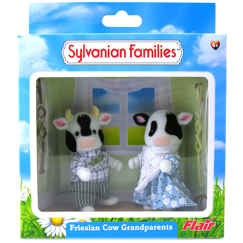 Toys For Grandparents House : Friesian cow family figures from sylvanian families wwsm