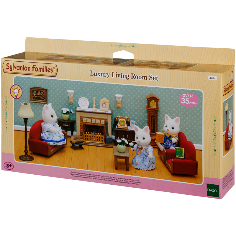 luxury living room set from sylvanian families wwsm. Black Bedroom Furniture Sets. Home Design Ideas