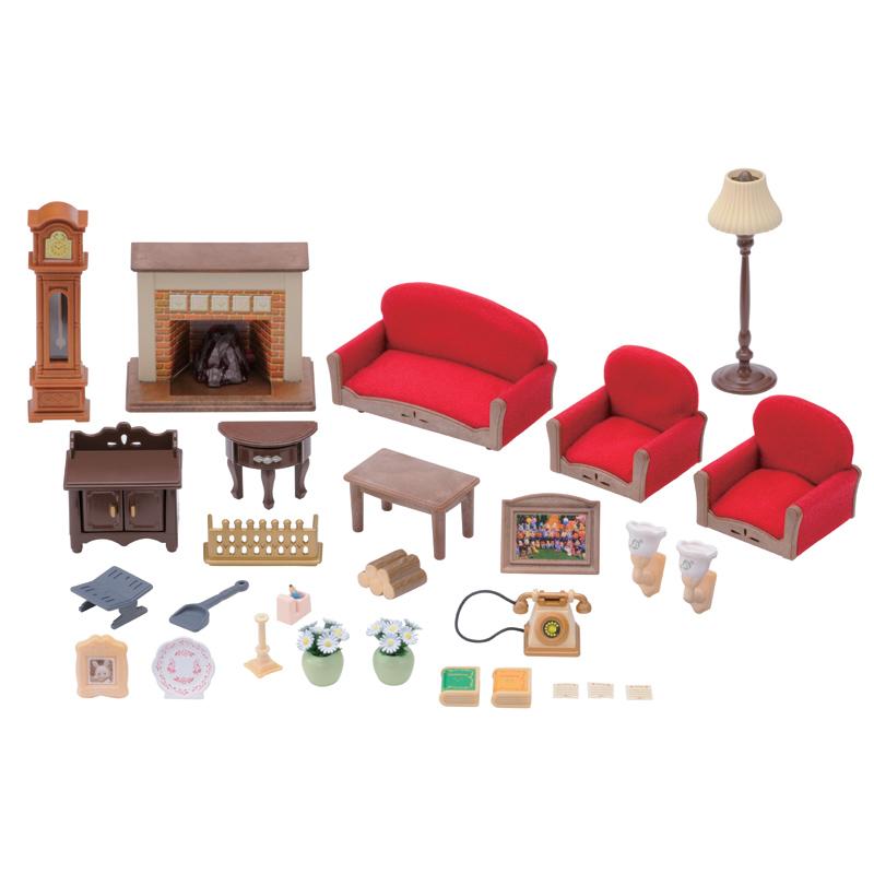 Sylvanian Families Luxury Living Room Set Modern House