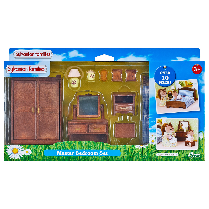 Sylvanian families master bedroom set ebay for Sylvanian classic furniture set
